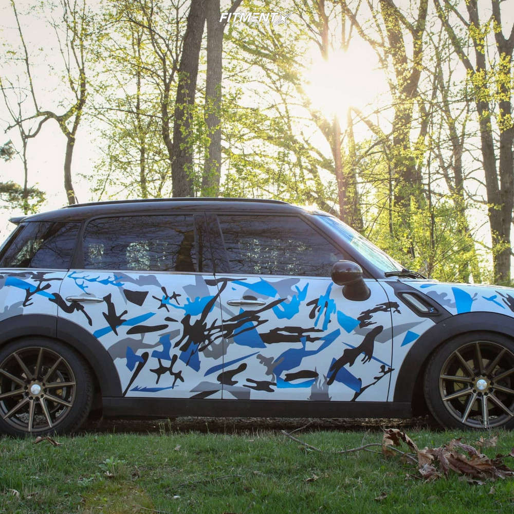 Flush 2012 Mini Cooper Countryman with 18x8.5 F1R F27 and Achilles Atr Sport 2 215/45 on Coilovers - Fitment Industries Gallery