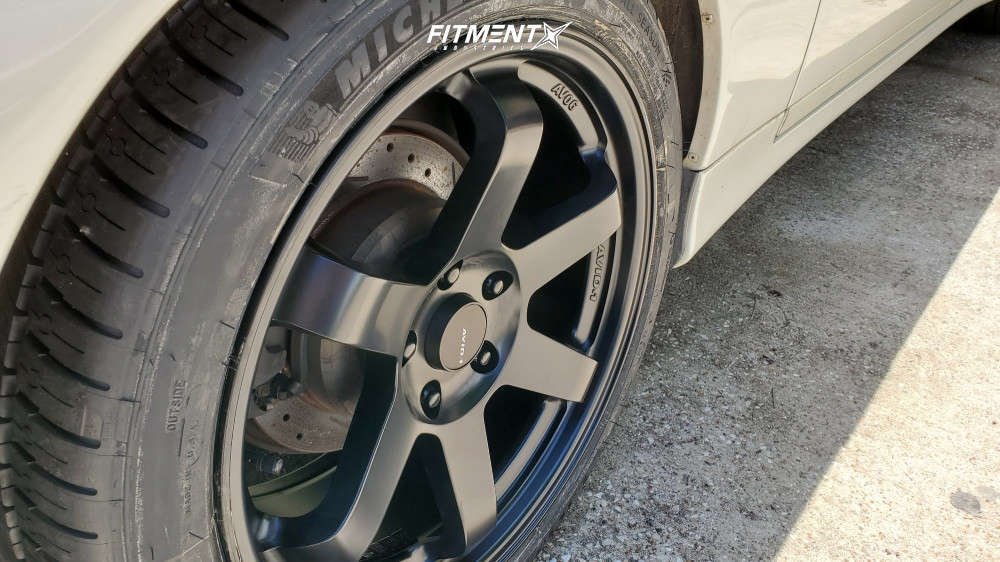 Flush 1997 Lexus SC300 with 18x8.5 AVID1 Av6 and Michelin Pilot Sport A/s 4 245/40 on Lowering Springs - Fitment Industries Gallery