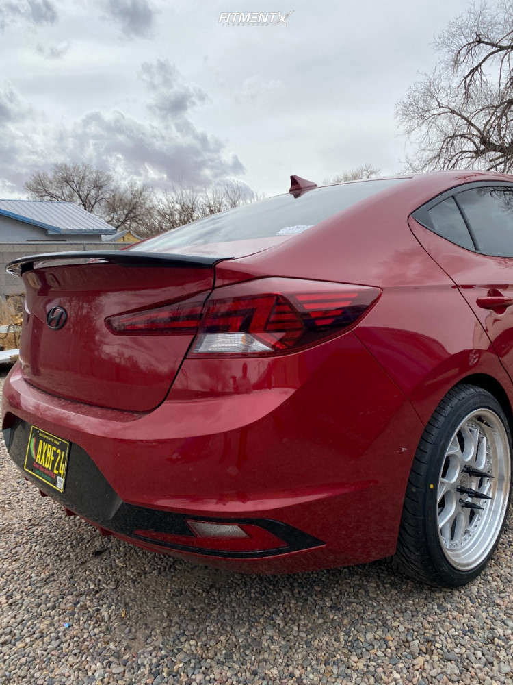 Poke 2019 Hyundai Elantra with 18x8.5 Aodhan Ds01 and Federal 595 Ss 225/40 on Stock Suspension - Fitment Industries Gallery