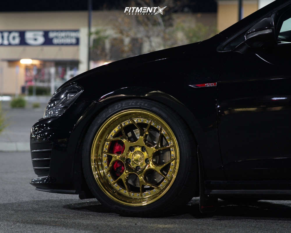 Flush 2016 Volkswagen GTI with 18x8.5 Aodhan Ds01 and Federal 595 Ss 225/40 on Coilovers - Fitment Industries Gallery