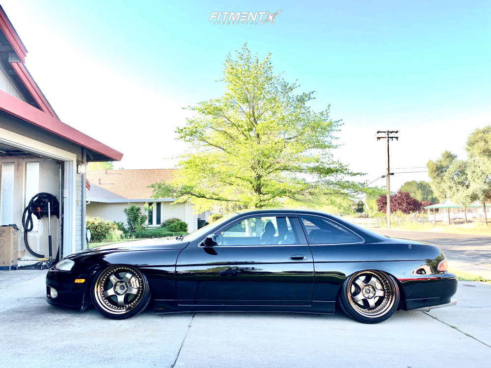 Tucked 1997 Lexus SC300 with 19x9.5 Work Meister S1 3p and Toyo Proxes Sport 245/35 on Air Suspension - Fitment Industries Gallery