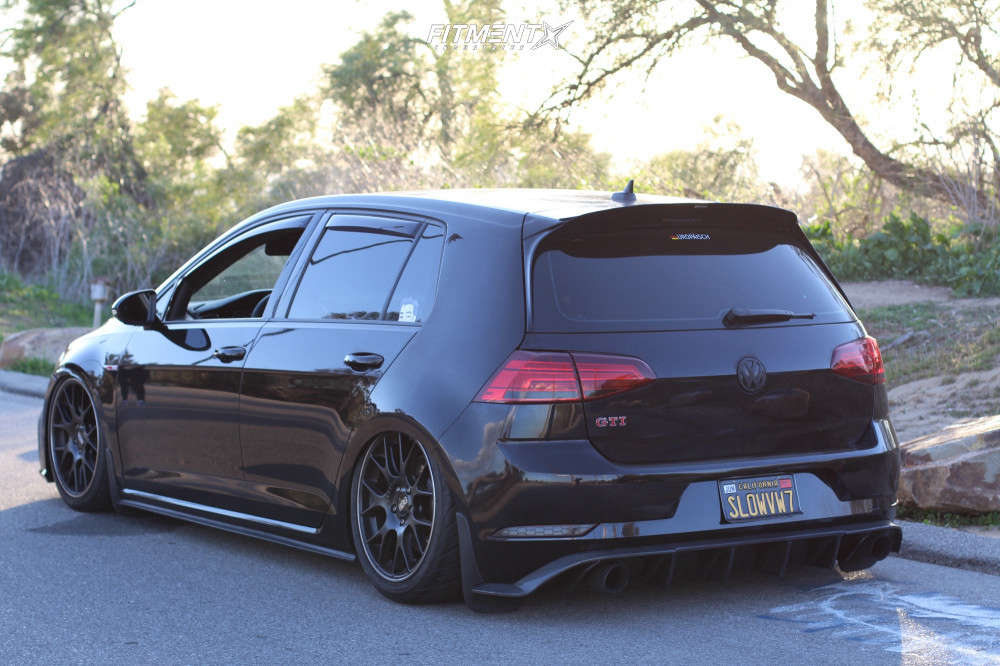 Tucked 2019 Volkswagen GTI with 18x8.5 BBS Ch-r and Nitto Nt05 225/40 on Air Suspension - Fitment Industries Gallery
