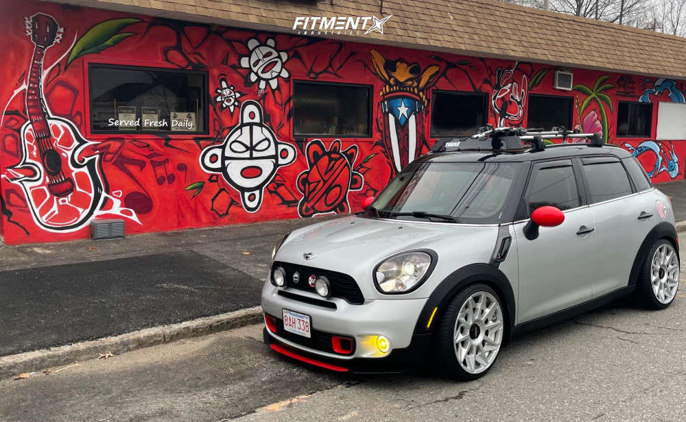 Nearly Flush 2013 Mini Cooper Countryman with 19x8.5 Rotiform Cvt and Federal 595 Ss 225/35 on Coilovers - Fitment Industries Gallery