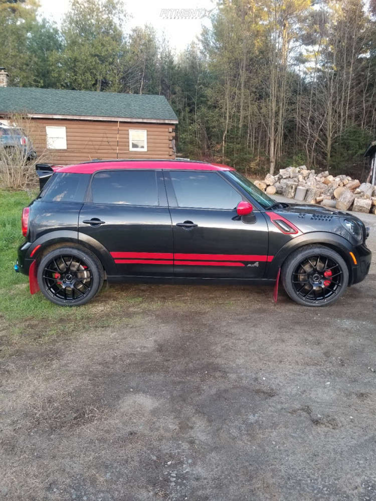 Nearly Flush 2012 Mini Cooper Countryman with 19x8 Enkei Raijin and Hankook Ventus Rs4 225/40 on Coilovers - Fitment Industries Gallery