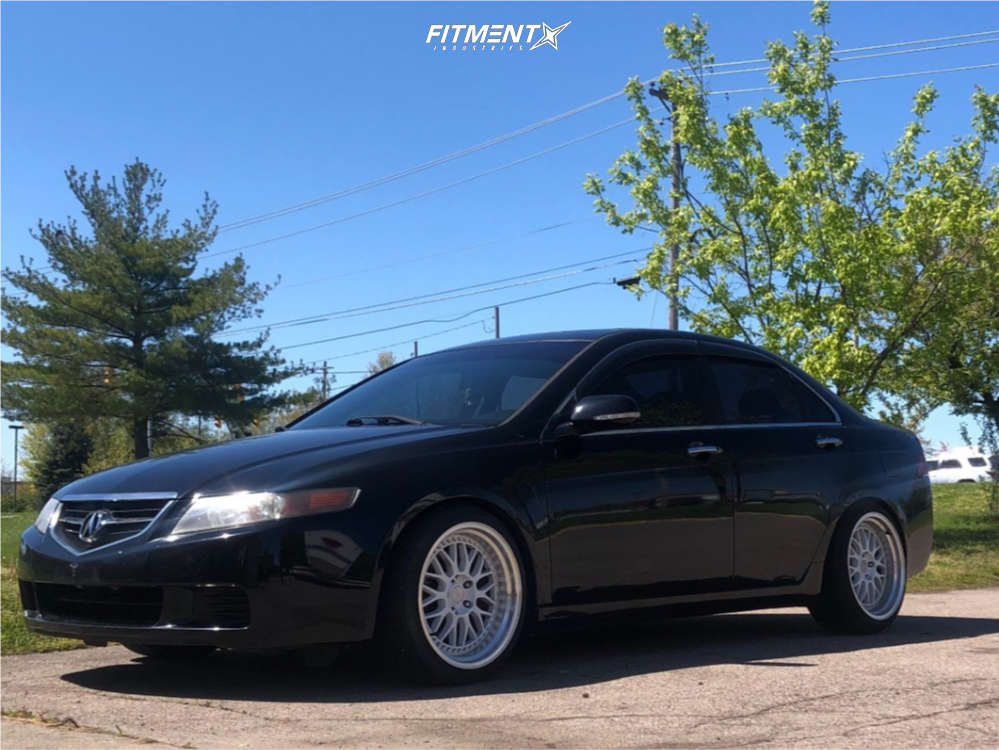 Nearly Flush 2004 Acura TSX with 18x9.5 ESR Sr01 & Milestar Ms932xp 225/40 on Coilovers - Fitment Industries Gallery