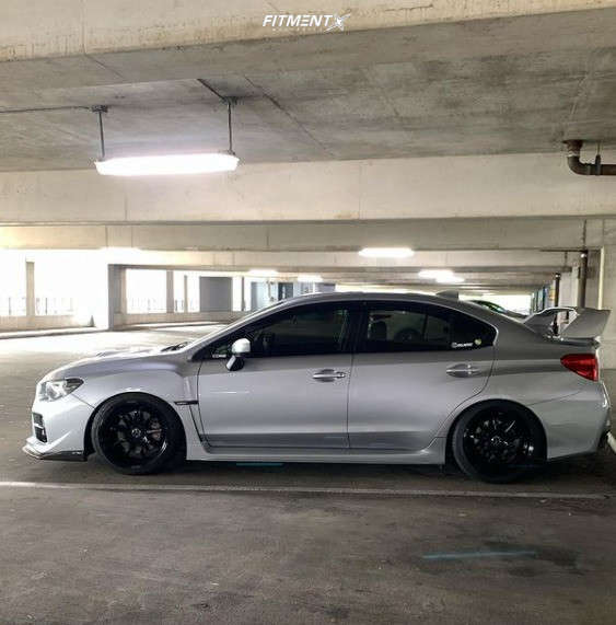 Flush 2017 Subaru WRX with 18x9.5 Work Emotion D9R and Federal 595 235/40 on Coilovers - Fitment Industries Gallery