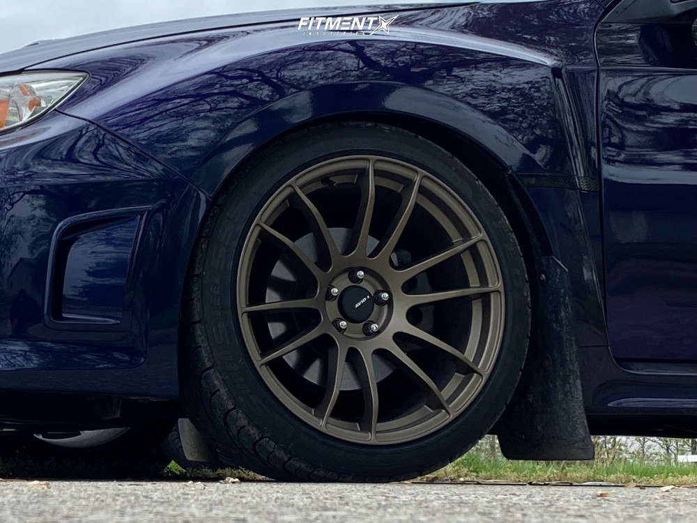 Flush 2013 Subaru WRX with 18x9.5 AVID1 Av20 and Federal SS 595 235/40 on Stock - Fitment Industries Gallery
