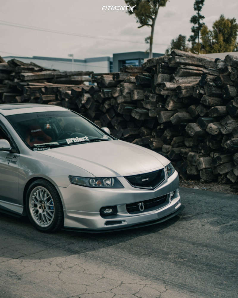 Flush 2005 Acura TSX with 17x8 BBS Rs & Falken Azenis Fk510 255/40 on Coilovers - Fitment Industries Gallery