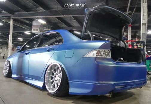 Tucked 2006 Acura TSX with 18x10.5 ESR Cs12 & Achilles Atr Sport 2 215/40 on Air Suspension - Fitment Industries Gallery