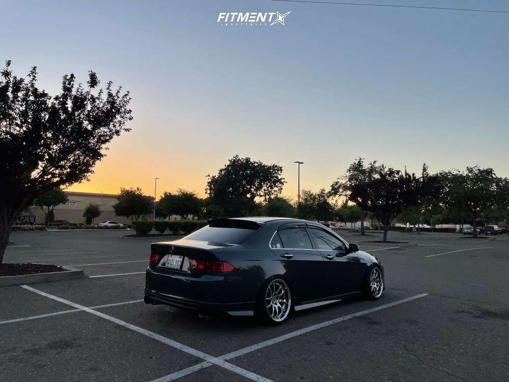 Poke 2004 Acura TSX with 18x9.5 Aodhan Ds02 & Radar Dimax As-8 225/35 on Coilovers - Fitment Industries Gallery