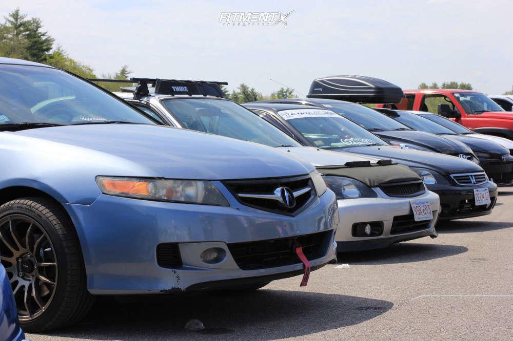 Poke 2007 Acura TSX with 18x8.5 AVID1 Av20 & Accelera All Season 225/40 on Stock Suspension - Fitment Industries Gallery