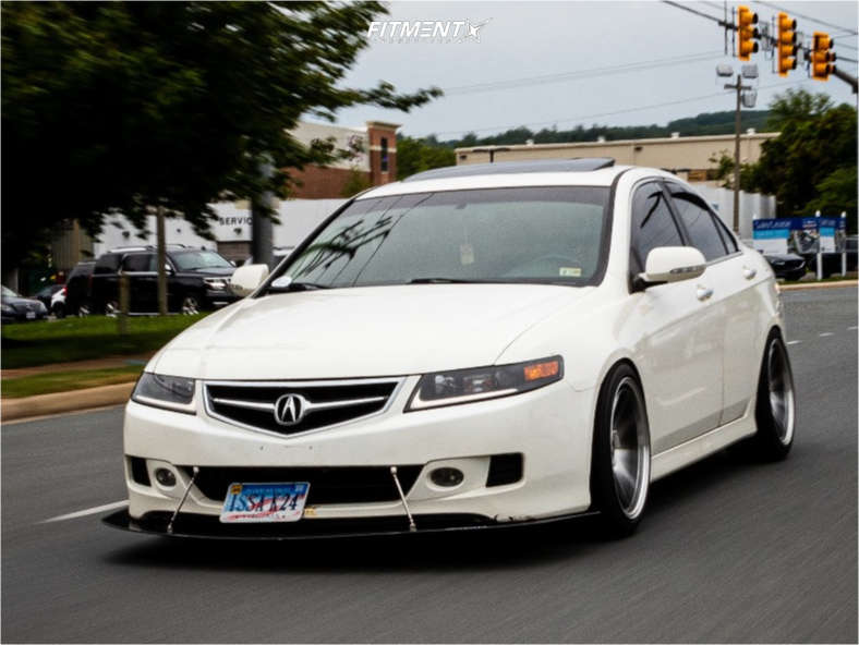 Poke 2007 Acura TSX with 18x9 STR 903 and Sumitomo Htr A/s P03 235/40 on Coilovers - Fitment Industries Gallery