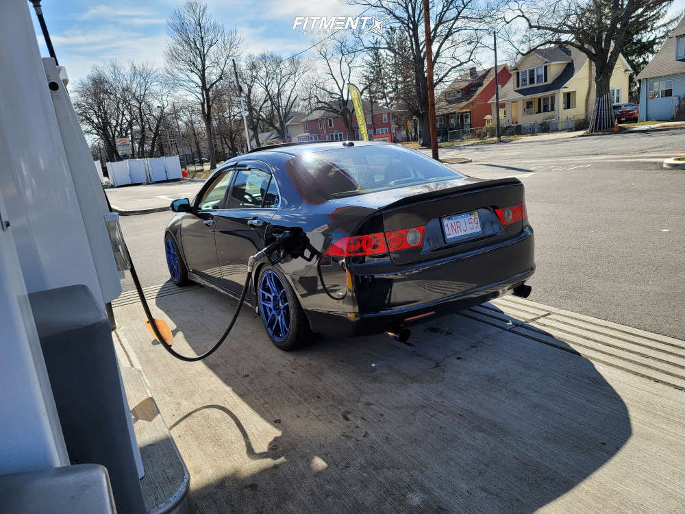 Nearly Flush 2006 Acura TSX with 18x8.5 ESR Cs8 and Federal 595 Ss 235/40 on Coilovers - Fitment Industries Gallery