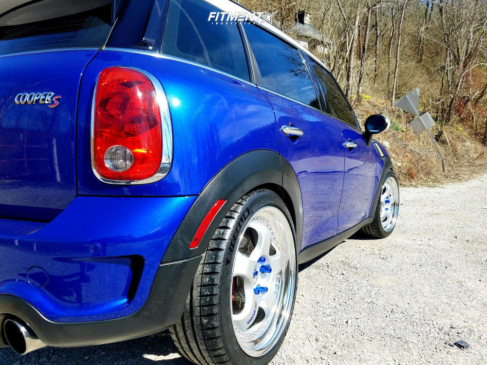Flush 2015 Mini Cooper Countryman with 19x8 Work Meister S1 3p and Michelin Pilot Sport 4 S 225/40 on Coilovers - Fitment Industries Gallery