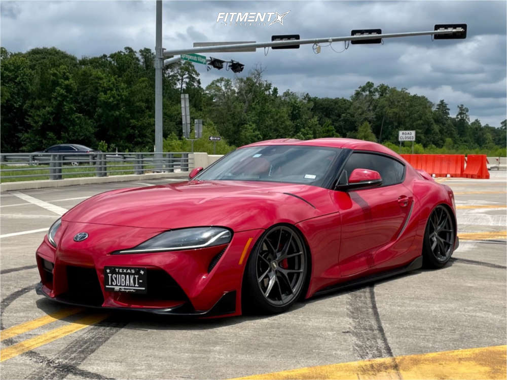Tucked 2020 Toyota GR Supra with 19x9.5 ESR Rf2 & Michelin Pilot Sport 4 S 245/35 on Air Suspension - Fitment Industries Gallery