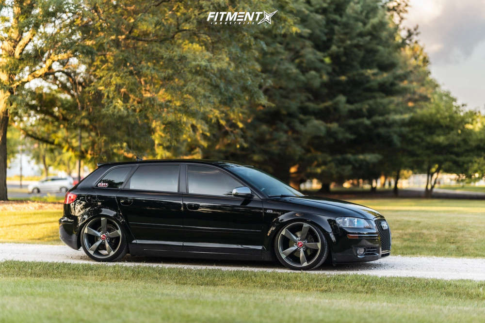Tucked 2008 Audi A3 with 19x8.5 Hartmann HTT-256-MA:M & Continental Extreme Contact Dws06 235/35 on Air Suspension - Fitment Industries Gallery