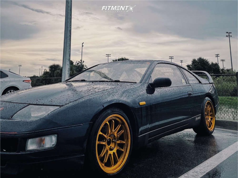 Nearly Flush 1990 Nissan 300ZX with 18x9 Cosmis Racing Xt-206r & Michelin Pilot Super Sport 245/45 on Stock Suspension - Fitment Industries Gallery