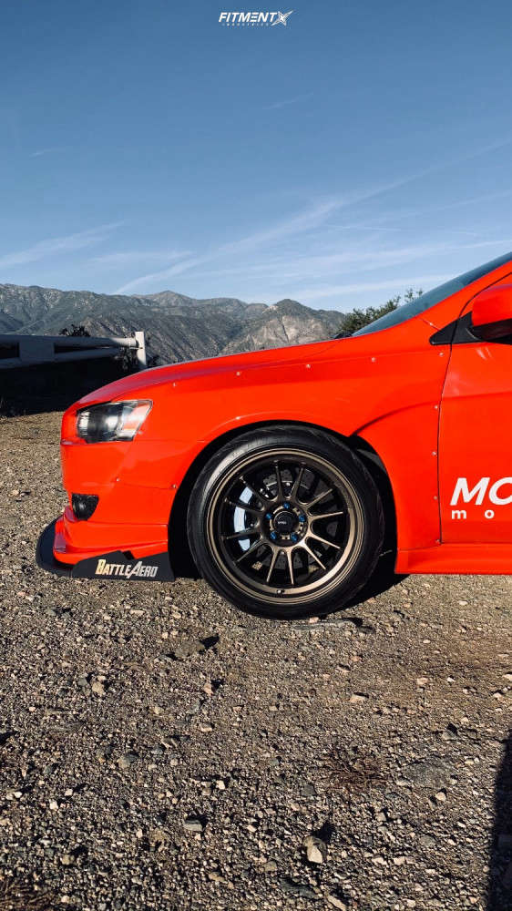 Nearly Flush 2009 Mitsubishi Lancer with 18x10.5 Konig Hypergram & Federal 595 Rs-rr 265/40 on Coilovers - Fitment Industries Gallery