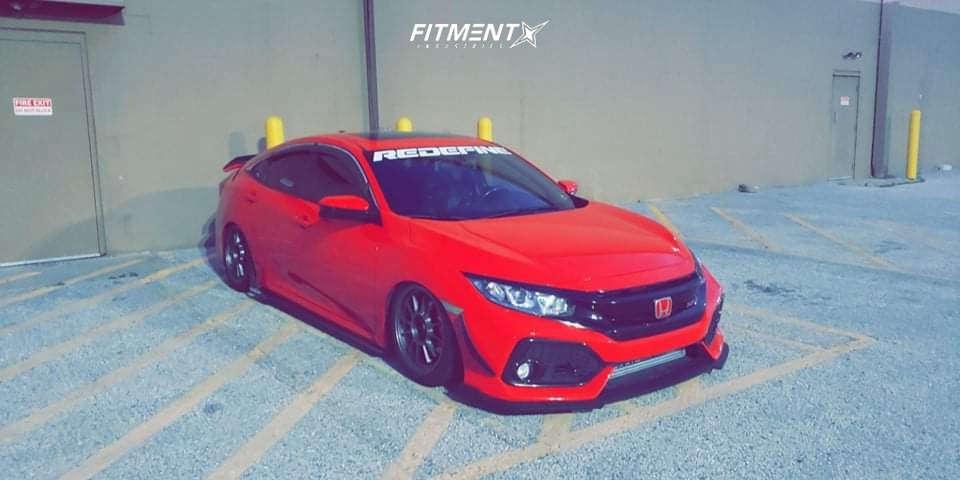 Tucked 2017 Honda Civic with 17x9 Konig Hypergram & Nexen N5000 Plus 245/40 on Air Suspension - Fitment Industries Gallery