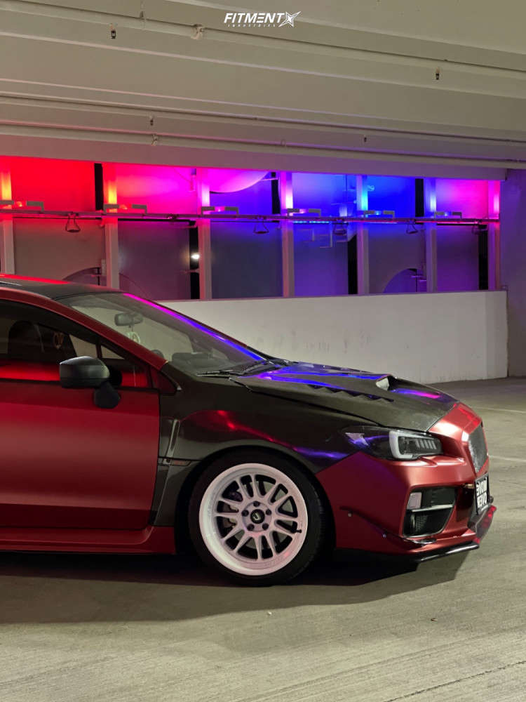 Nearly Flush 2016 Subaru WRX with 18x9.5 Cosmis Racing Xt-206r & Lexani Lxuhp-207 225/40 on Coilovers - Fitment Industries Gallery