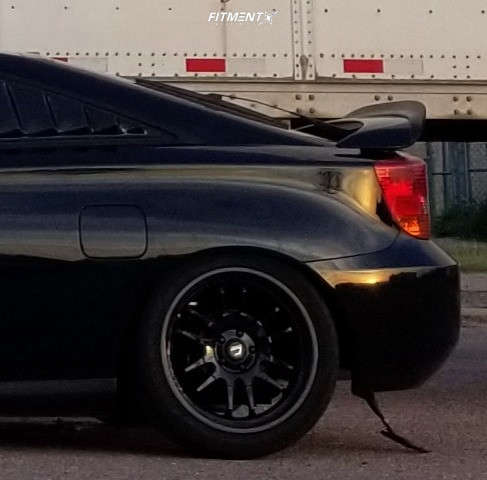 Tucked 2002 Toyota Celica with 17x8 Cosmis Racing Xt-206r & Advan Fleva V701 235/40 on Coilovers - Fitment Industries Gallery