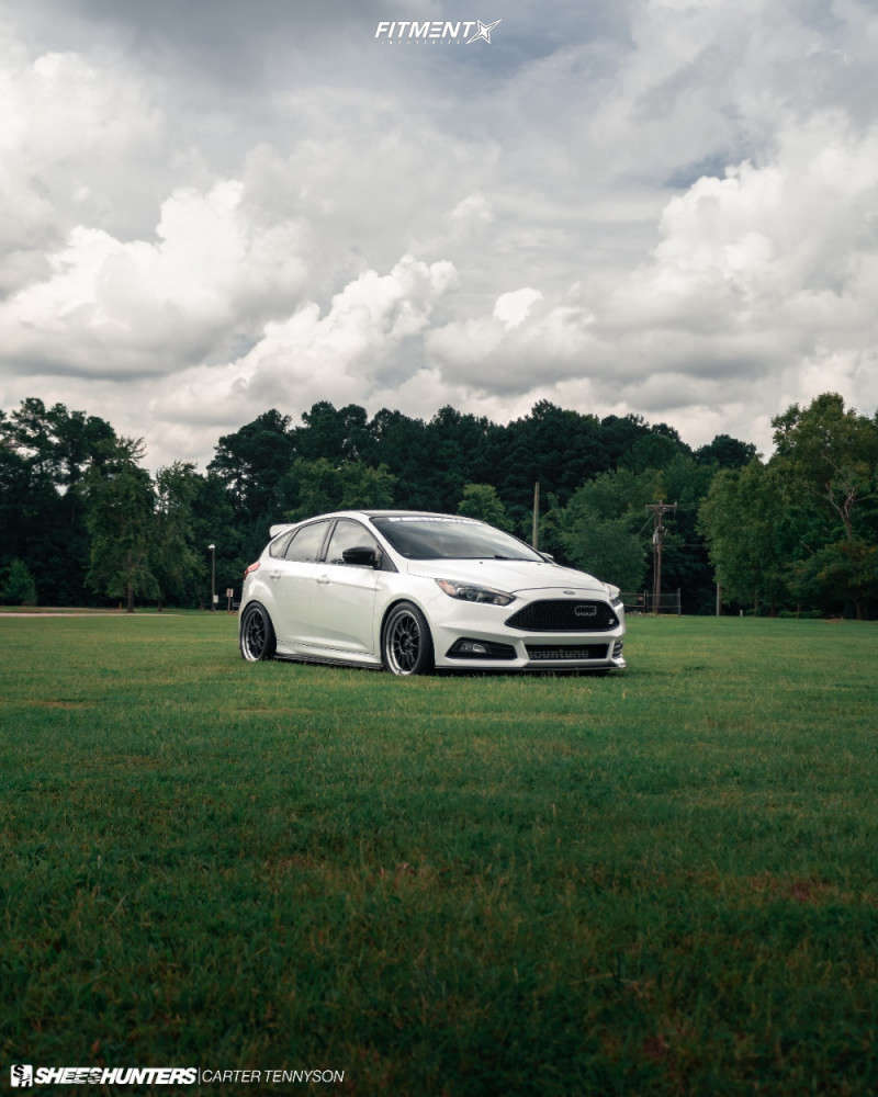 Flush 2015 Ford Focus with 18x8.5 Konig Hypergram & Continental Extreme Contact Sport 245/40 on Lowering Springs - Fitment Industries Gallery
