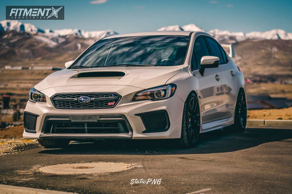 Flush 2018 Subaru WRX STI with 18x9.5 Option Lab R716 & Nankang NS-20 265/35 on Coilovers - Fitment Industries Gallery