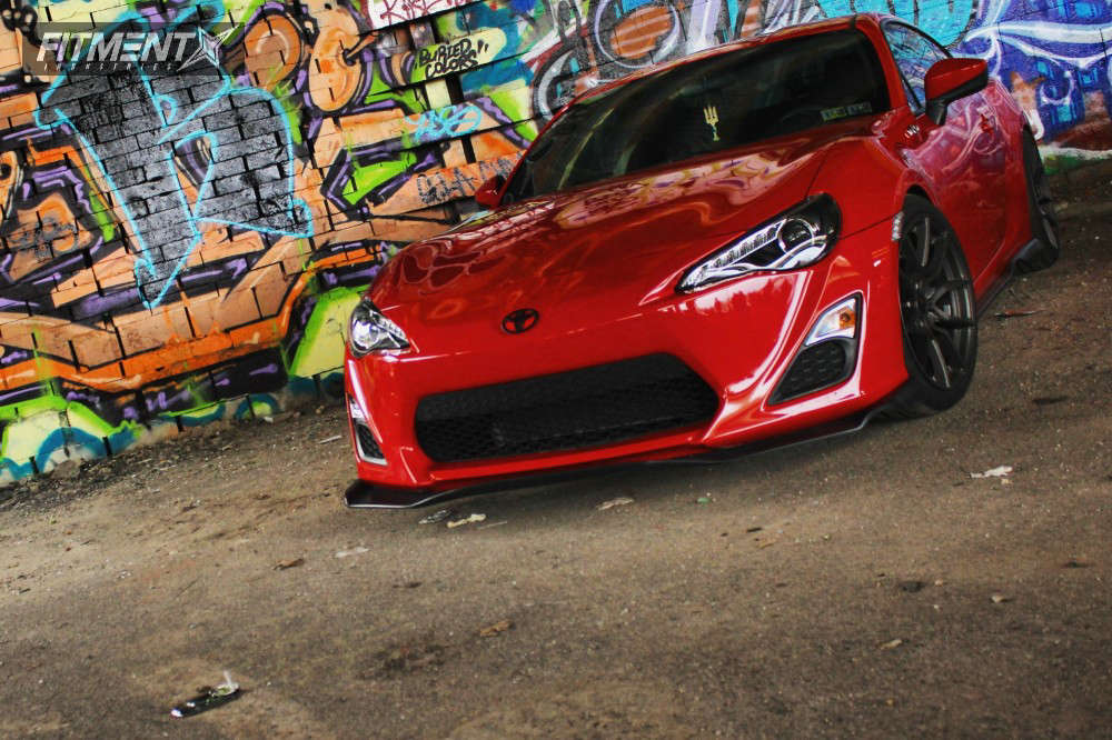 Nearly Flush 2013 Scion FR-S with 18x9.5 Option Lab R716 & Firestone Indy 500 255/35 on Coilovers - Fitment Industries Gallery