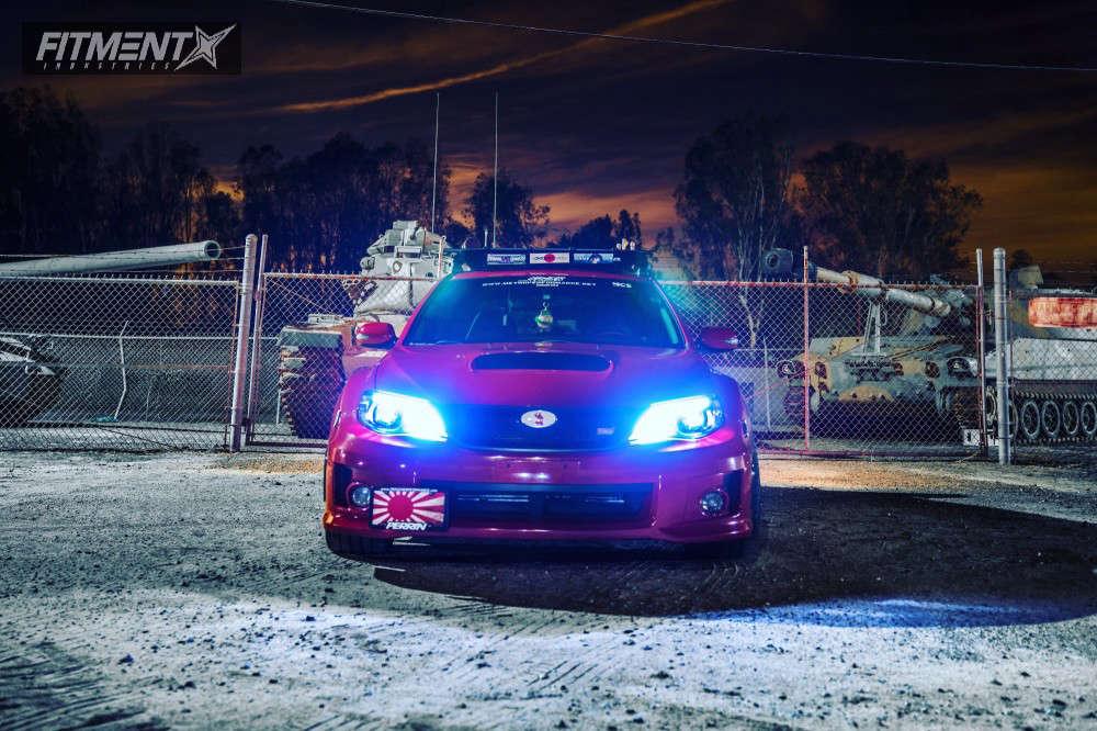 Nearly Flush 2011 Subaru WRX STI with 18x9.5 Konig Hypergram & Michelin Pilot Super Sport 265/35 on Stock Suspension - Fitment Industries Gallery