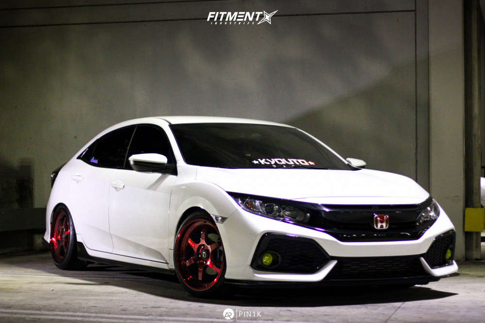 Flush 2018 Honda Civic with 18x9 Cosmis Racing XT-006R & Federal 595 Ss 225/35 on Coilovers - Fitment Industries Gallery