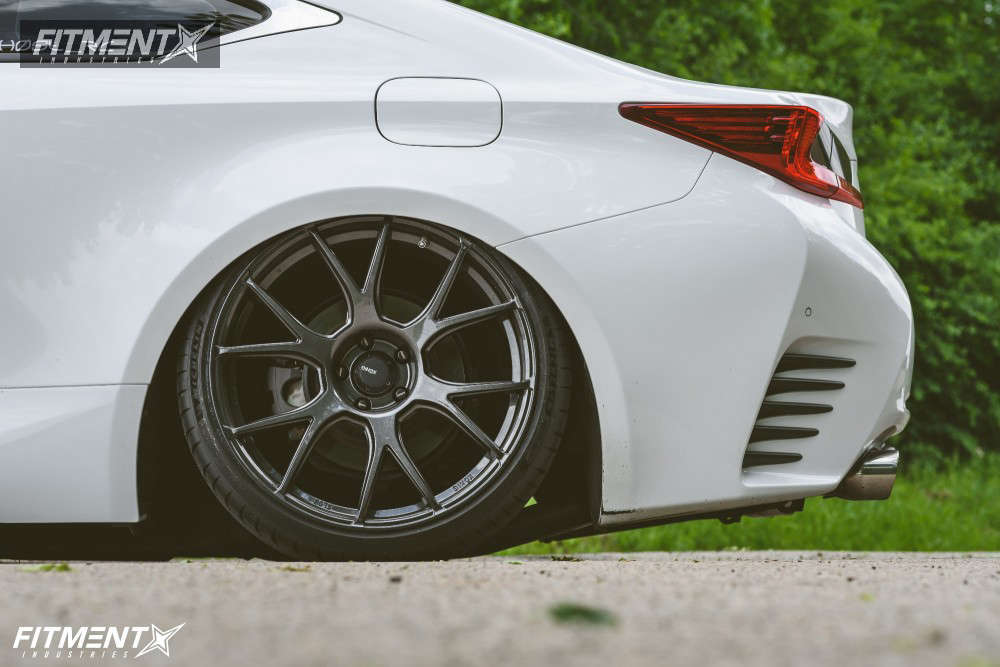 Tucked 2015 Lexus RC350 with 20x9.5 Konig Ampliform & Michelin Pilot Sport 4 S 255/30 on Air Suspension - Fitment Industries Gallery