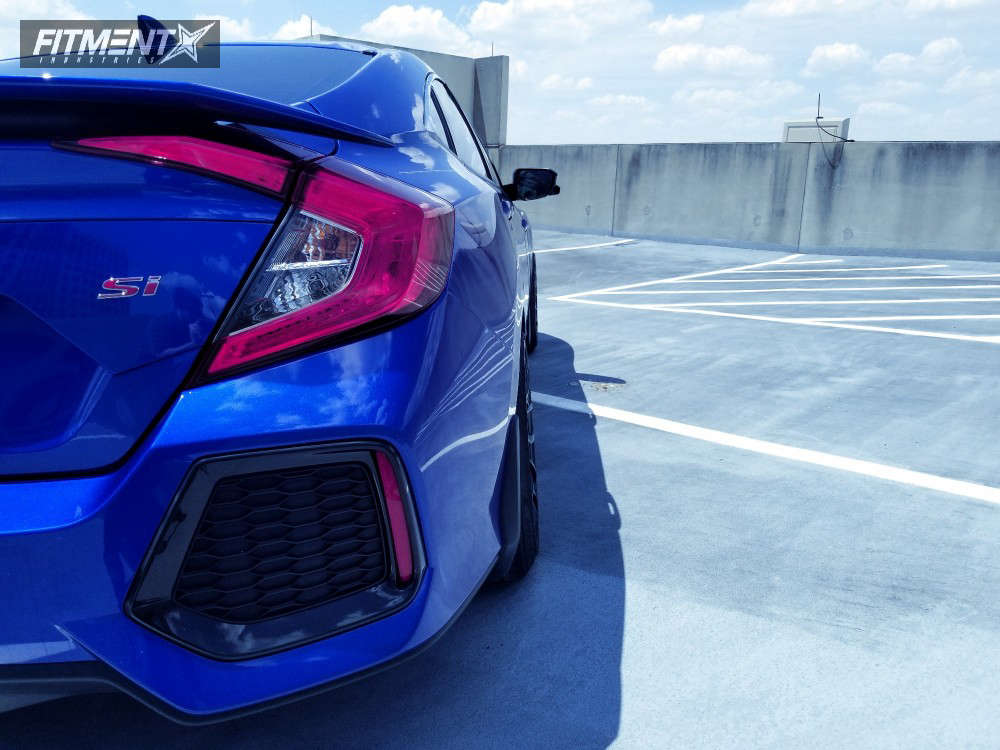 Flush 2018 Honda Civic with 18x9.5 ESR SR12 & Goodyear Eagle Sport AS 235/40 on Lowering Springs - Fitment Industries Gallery