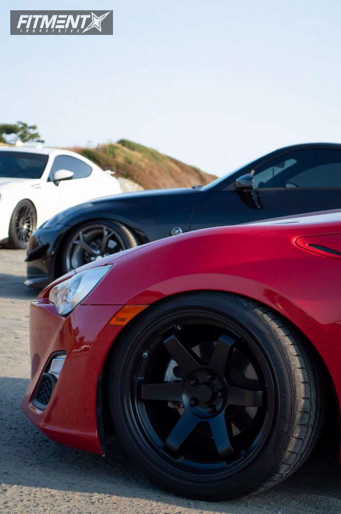 Nearly Flush 2013 Scion FR-S with 18x9.5 AVID1 AV6 & Toyo Tires Proxes 1 245/40 on Coilovers - Fitment Industries Gallery
