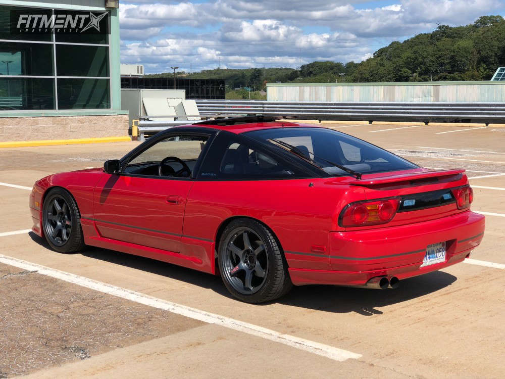 Flush 1991 Nissan 240SX with 17x9 Gram Lights 57DR & Michelin Pilot Sport A/s 3 Plus 245/40 on Coilovers - Fitment Industries Gallery