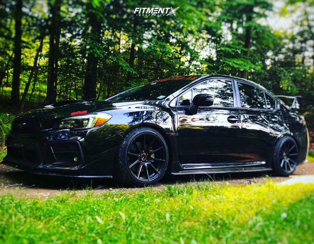Flush 2018 Subaru WRX with 18x9.5 Enkei Ts-10 & Michelin Pilot Sport 4 S 255/35 on Coilovers - Fitment Industries Gallery
