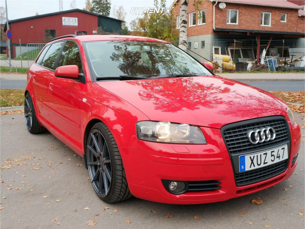Nearly Flush 2006 Audi A3 Quattro with 19x8.5 ABS F22 & Achilles Atr Sport 225/35 on Coilovers - Fitment Industries Gallery