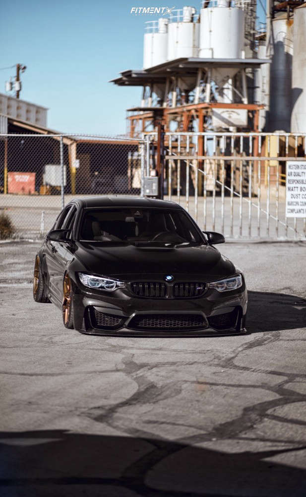 Tucked 2017 BMW M3 with 20x9 Rohana Rfx11 & Hankook Ventus V12 Evo 2 245/35 on Air Suspension - Fitment Industries Gallery