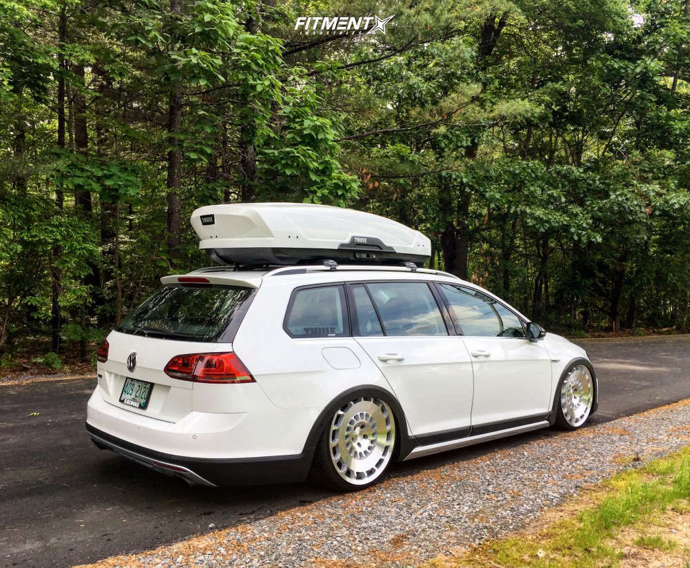 Tucked 2017 Volkswagen Golf Alltrack with 20x8.5 Rotiform Ccv and Achilles 868 All Seasons 215/30 on Air Suspension - Fitment Industries Gallery