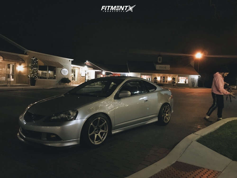Nearly Flush 2006 Acura RSX with 17x9 Mb Wheels Battle & Bridgestone Blizzak Ws80 235/45 on Coilovers - Fitment Industries Gallery