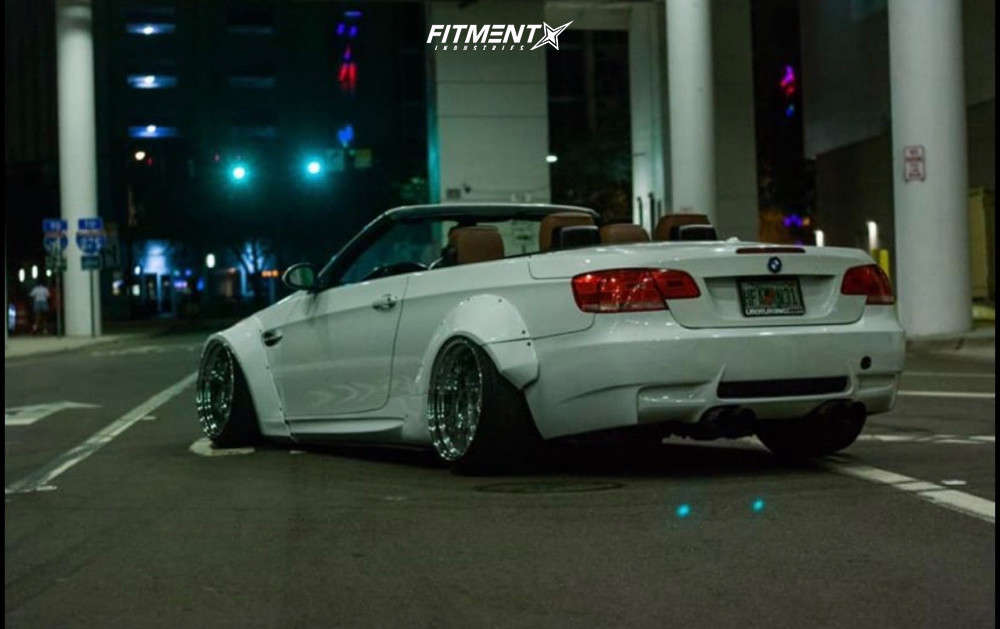 Tucked 2007 BMW 335is with 19x12 Nine1forged Fc8v2 and Hankook Dynapro As 255/30 on Air Suspension - Fitment Industries Gallery