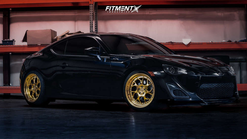 Nearly Flush 2013 Scion FR-S with 18x9.5 Aodhan DS01 & ZEETEX Hp1000 225/40 on Coilovers - Fitment Industries Gallery
