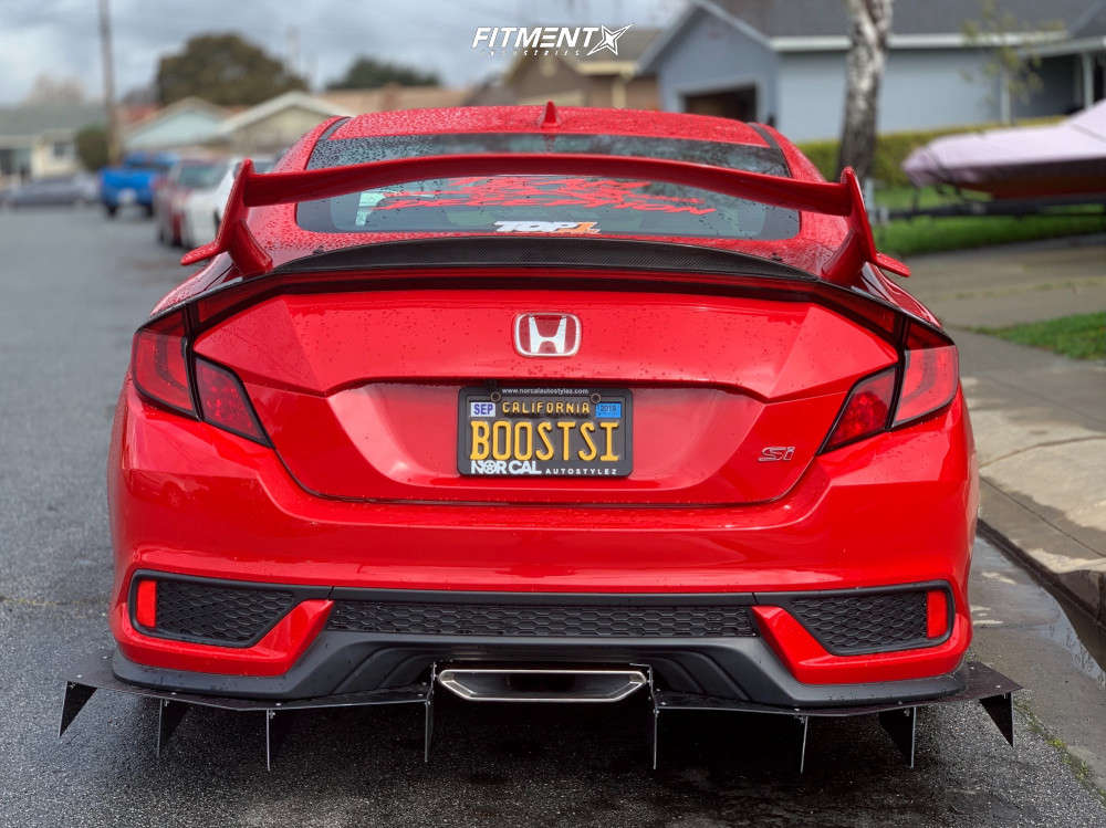 Nearly Flush 2018 Honda Civic with 18x8 SSR Sp1 & Toyo Tires Proxes T1 Sport 225/40 on Lowering Springs - Fitment Industries Gallery