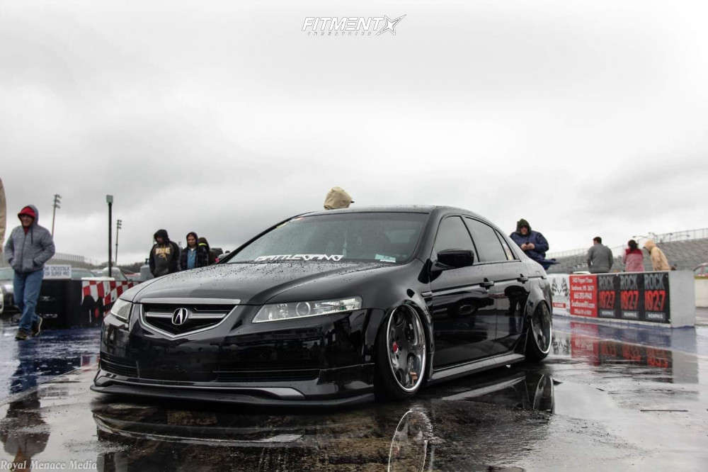 Tucked 2006 Acura TL with 19x10 Weds Kranze Bazreia & Achilles Atr Sport 2 235/35 on Air Suspension - Fitment Industries Gallery