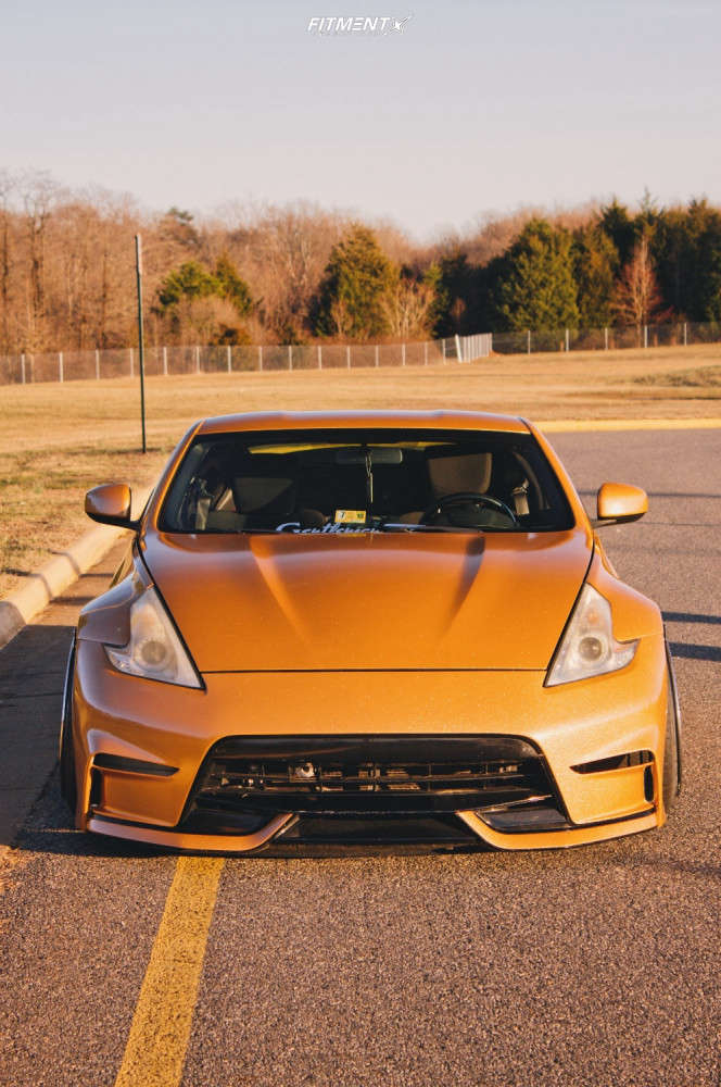 Flush 2009 Nissan 370Z with 19x11 GMR Sf-8 & Achilles Atr Sport 235/35 on Air Suspension - Fitment Industries Gallery
