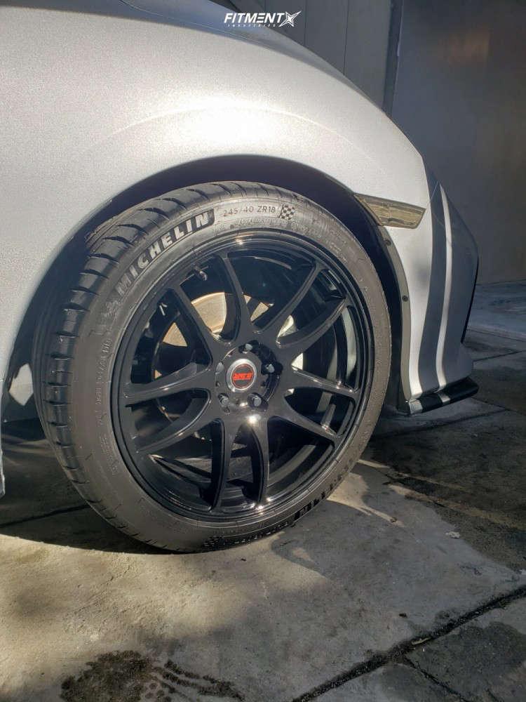 Poke 2018 Honda Civic with 18x8.5 ESR Sr08 & Michelin Pilot Sport 4 S 245/40 on Stock Suspension - Fitment Industries Gallery