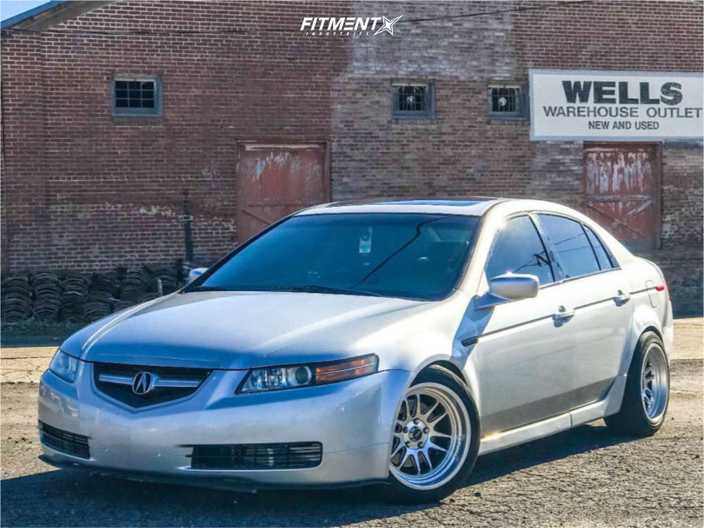 Poke 2006 Acura TL with 17x9 Cosmis Racing XT-206R & Michelin All Season 235/45 on Coilovers - Fitment Industries Gallery