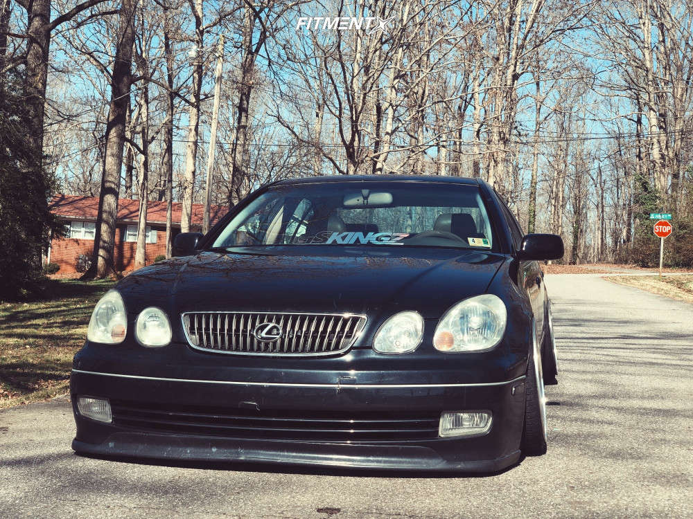 HellaFlush 2001 Lexus GS300 with 18x9.5 GMR Gs-5 & Federal 595 Evo 215/35 on Coilovers - Fitment Industries Gallery