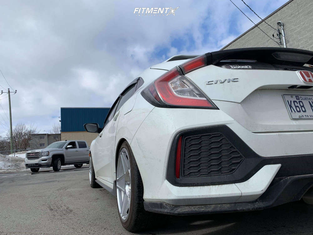 Flush 2018 Honda Civic with 18x9 Fast Wheels Nineteen80 & Austone Athena SP-7 225/40 on Lowering Springs - Fitment Industries Gallery