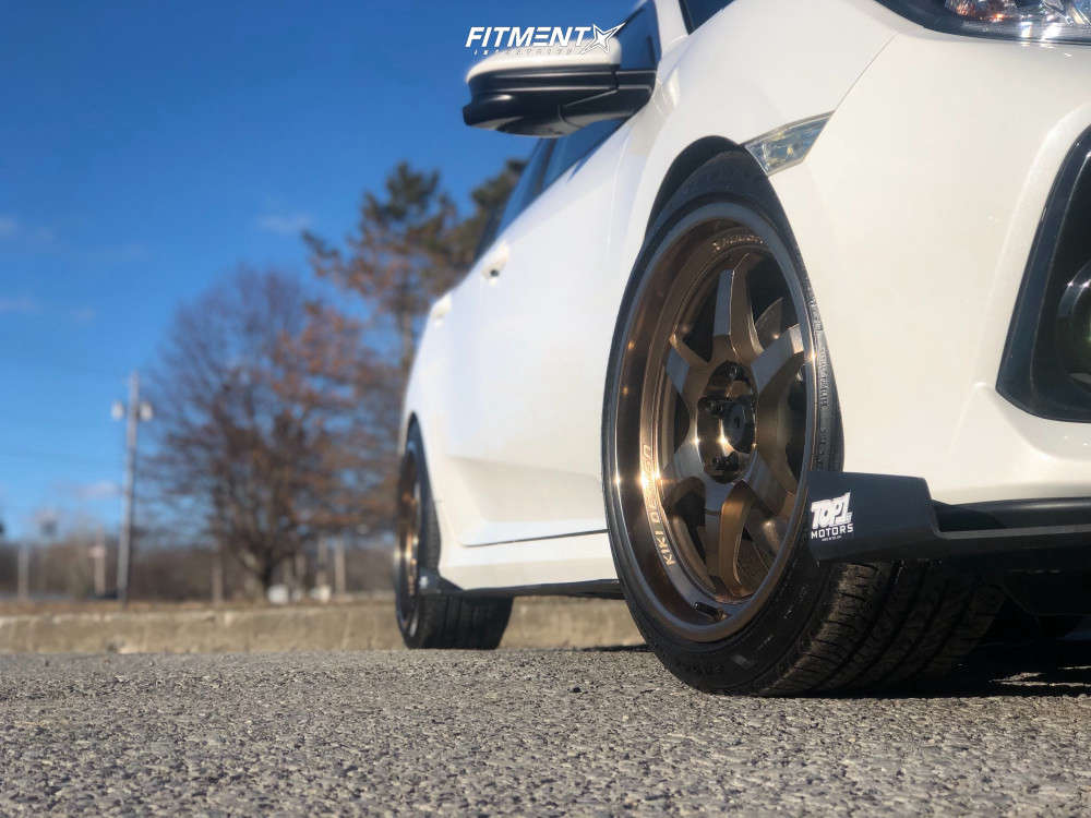 Poke 2018 Honda Civic with 18x9 Cosmis Racing XT-006R & Goodyear All Season 235/40 on Lowering Springs - Fitment Industries Gallery