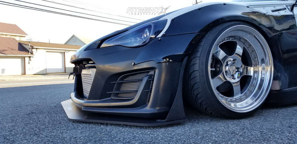 Poke 2013 Scion FR-S with 18x10 CCW Lm5 & Federal 595 Rs-r 215/35 on Air Suspension - Fitment Industries Gallery